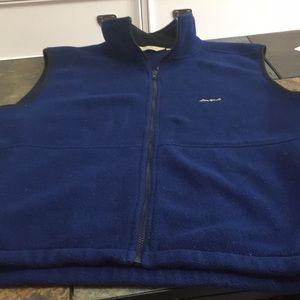 Eddie Bauer Fleece Blue vest.